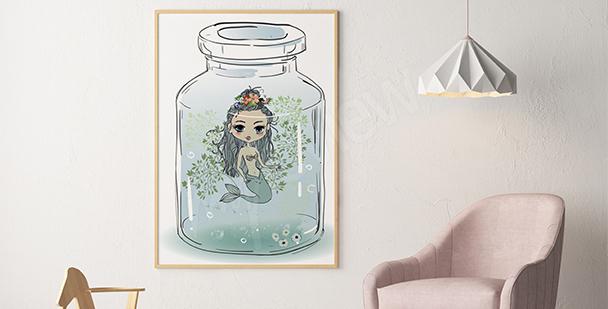 Poster für ein Mädchenzimmer Sirene