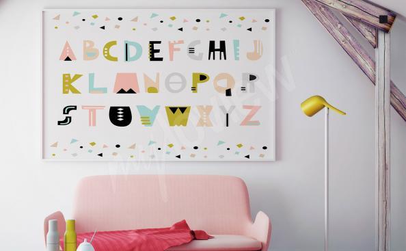 Poster für Kinderzimmer - Schriftart