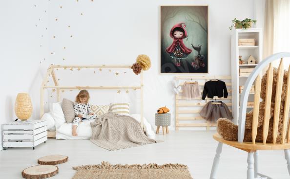 Poster für Mädchen Rotkäppchen
