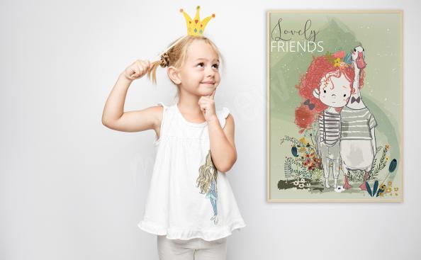 Poster für Mädchenzimmer Freunde