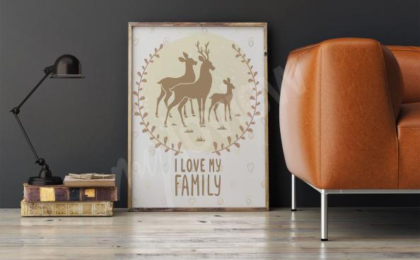 Poster für Wohnzimmer mit Hirsche