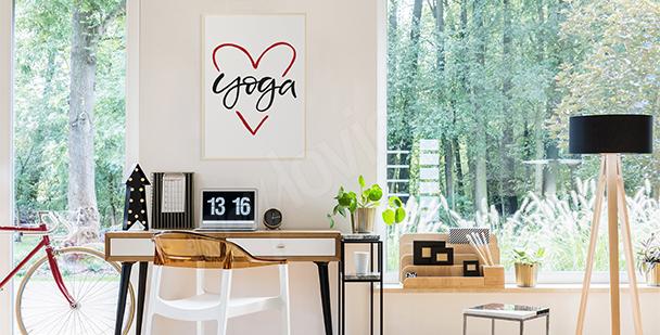 Poster für Yoga-Liebhaber