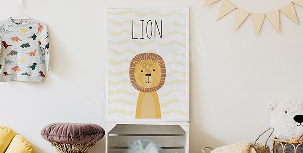 Poster fürs Jungenzimmer - Löwe