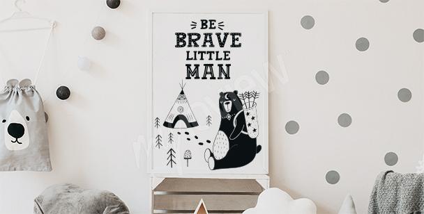 Poster für Jungenzimmer: Aufschrift