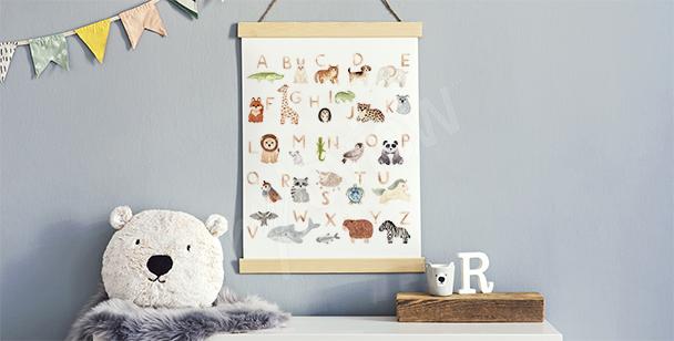 Poster fürs Jungenzimmer und Alphabet