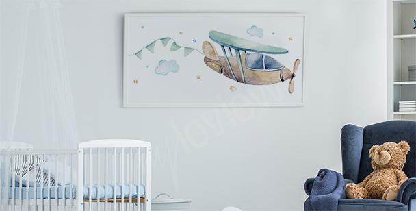 Poster fürs Jungenzimmer und Flugzeug