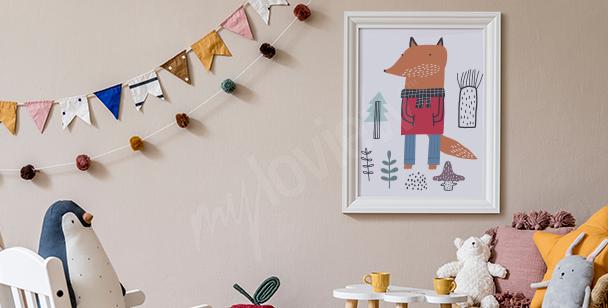 Poster fürs Jungenzimmer und Fuchs