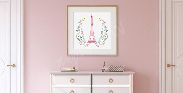 Poster fürs Vorzimmer Eiffelturm