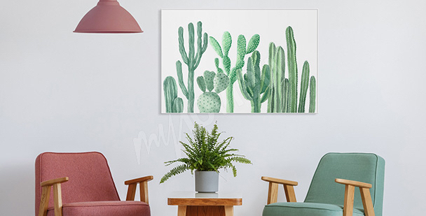 Poster fürs Vorzimmer Kakteen