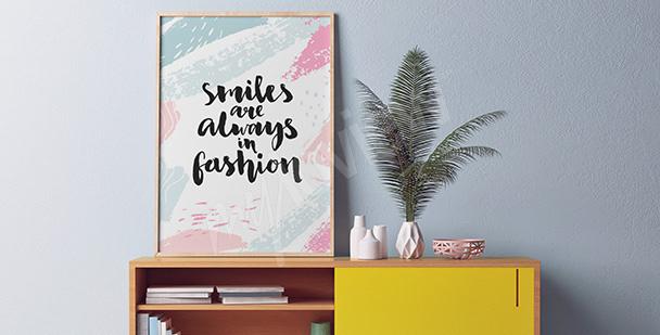Poster fürs Vorzimmer Motivation