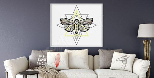 Poster fürs Wohnzimmer Nachtfalter