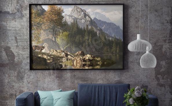 Poster Gebirge für Wohnzimmer