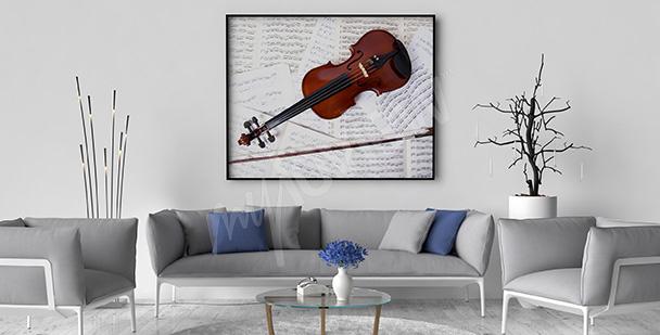 Poster Geige und Noten