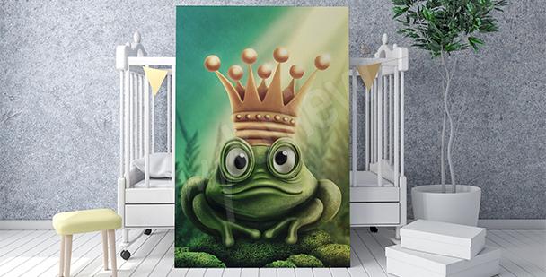 Poster Gekrönter Frosch