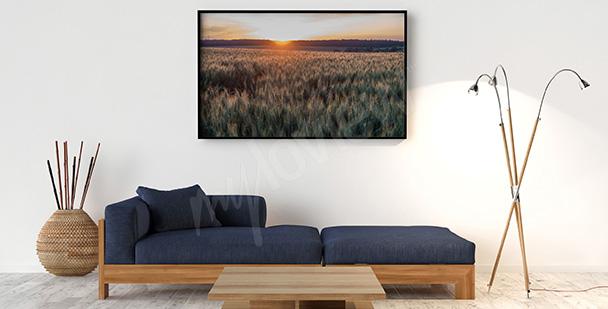 Poster gemütliche Landschaft
