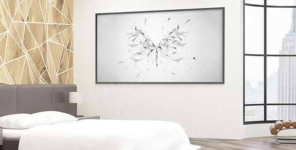 Poster geometrischer Schmetterling