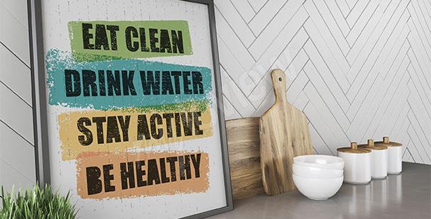 Poster gesunde Lebensweise