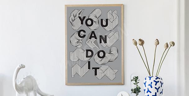 Poster grafischer Slogan