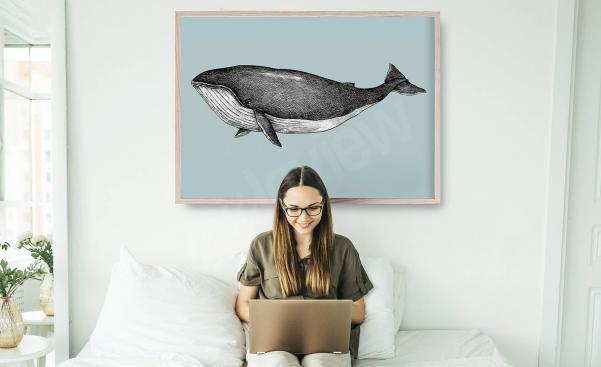 Poster Illustration eines Wals