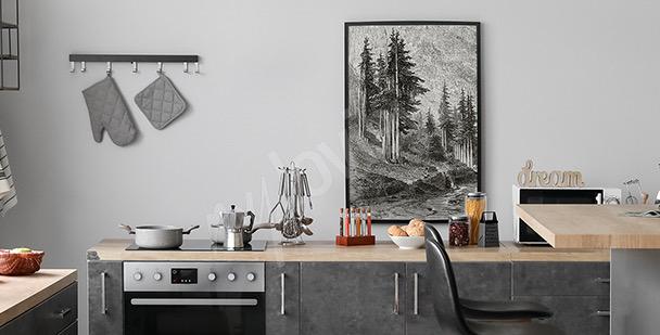 Poster abstrakte Landschaft