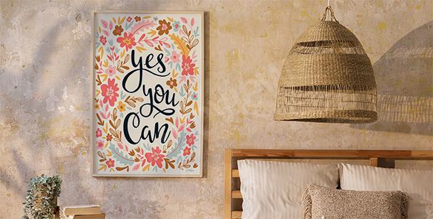 Poster im floralen Stil