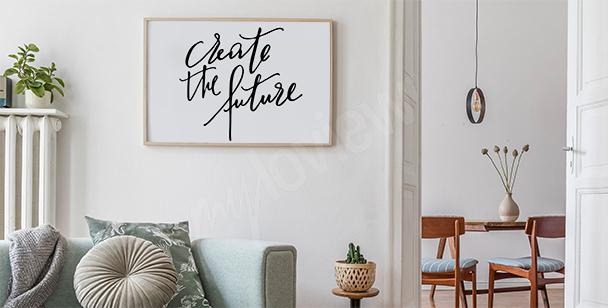 Poster im minimalistischen Stil