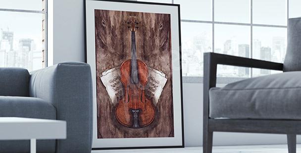 Poster Instrumente: Geige