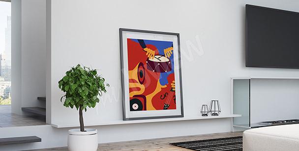 Poster Jazzinstrumente Retro