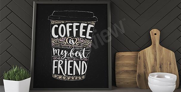 Poster Kaffee Becher
