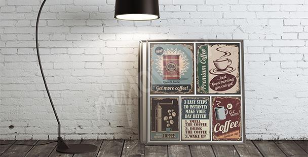 Poster Kaffee Retro-Stil