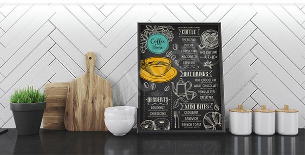 Poster Kaffee und Menu