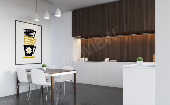 Poster Kaffeemotiv Retro-Stil
