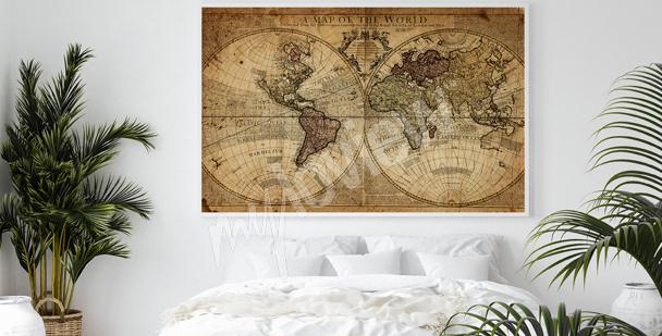 Poster Kartographie fürs Schlafzimmer