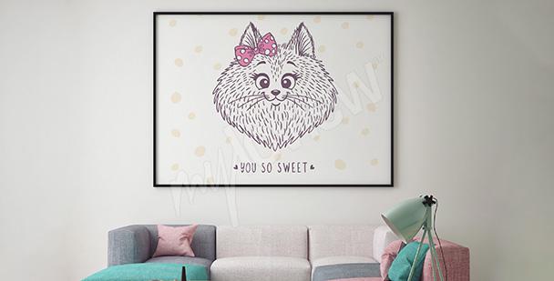 Poster Katze für für ein Mädchen