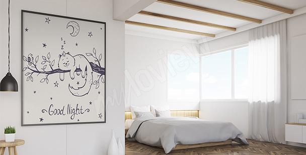 Poster Katze fürs Schlafzimmer