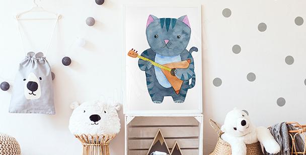 Poster Katzenmusiker fürs Kinderzimmer
