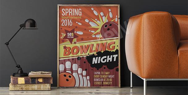 Poster Kegel-Turnier