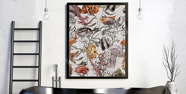 Poster Korallenriff und Fische