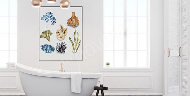 Poster Korallentier fürs Badezimmer
