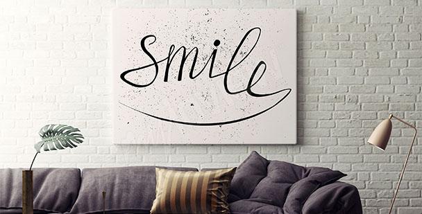Poster Lächeln Sie Mal