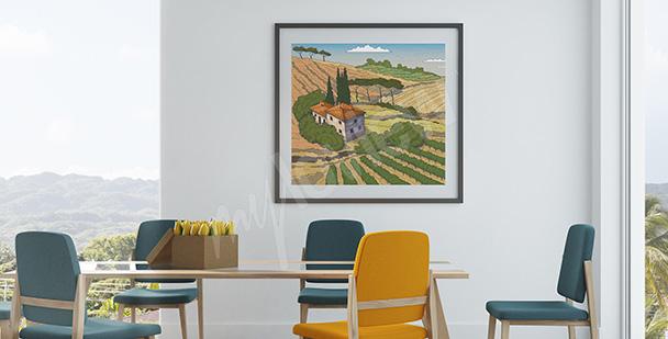 Poster Landeslandschaft in Toskana