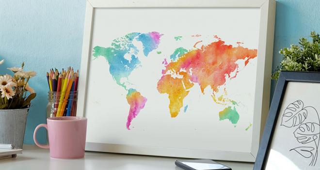 Landkarte für Poster – verleihen Sie Ihren Interieurs eine individuelle Note!