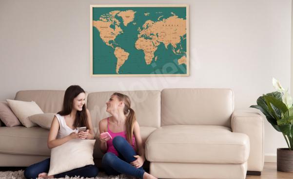 Poster Landkarte fürs Wohnzimmer