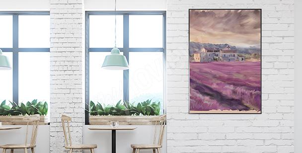 Poster Lavendel Landschaft