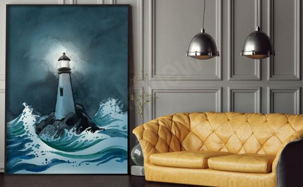 Poster Leuchtturm für Wohnzimmer