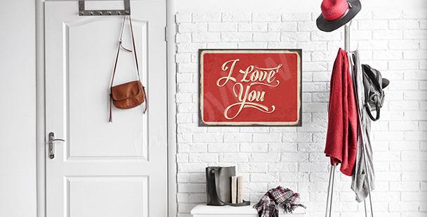 Poster Liebeserklärung