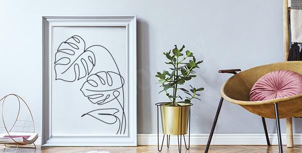 Poster Line-Art-Stil