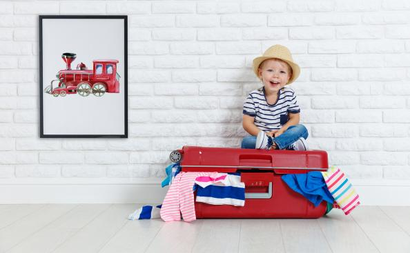 Poster Lokomotive für Kinder