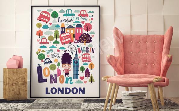 Poster London - Symbolen