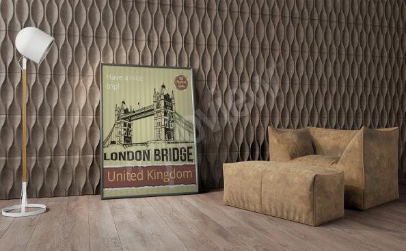 Poster London Vintage-Stil